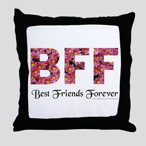 BFF BEST FRIENDS FOREVER Throw Pillow