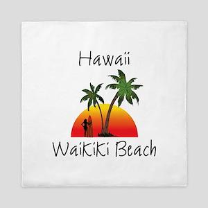 Waikiki Beach Hawaii Queen Duvet