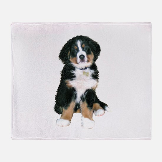 Bernese MD Puppy Throw Blanket