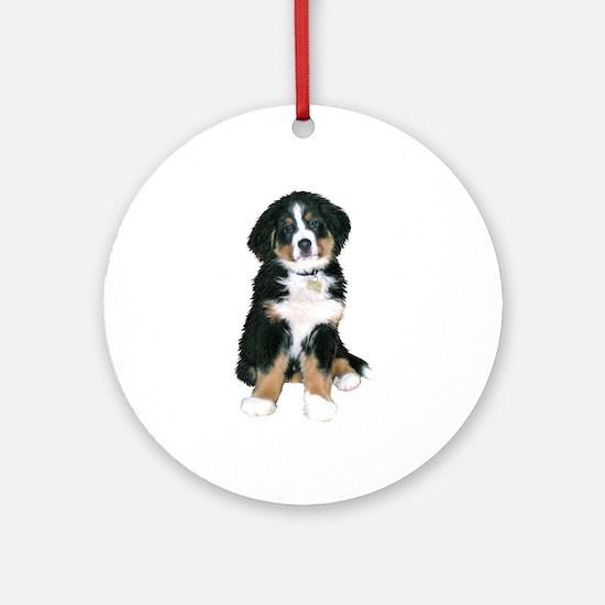 Bernese MD Puppy Round Ornament