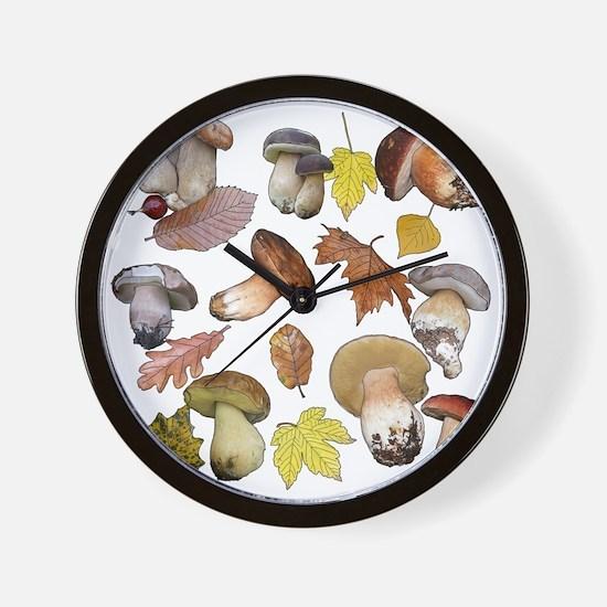 Cute Fungi Wall Clock