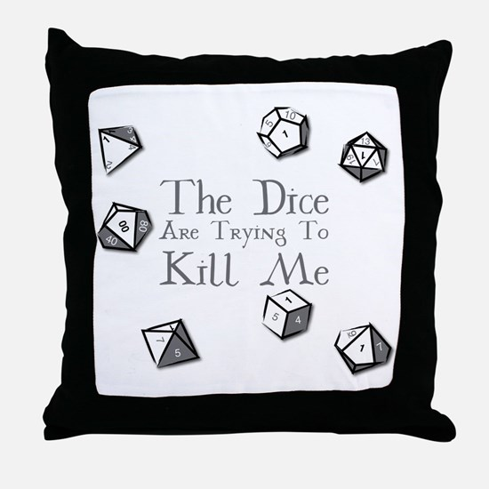 Cute Dice Throw Pillow