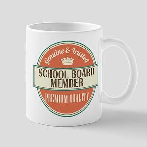 school board member vintage logo Mug