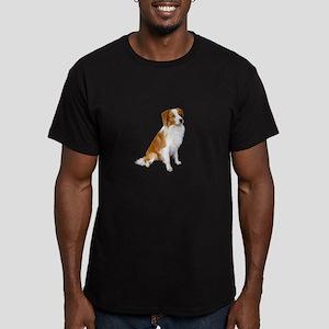 Border Collie (r&w) Men's Fitted T-Shirt (dark)