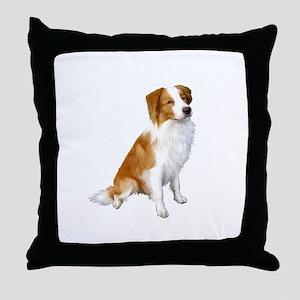 Border Collie (r&w) Throw Pillow