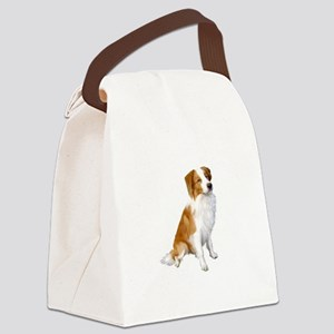 Border Collie (r&w) Canvas Lunch Bag