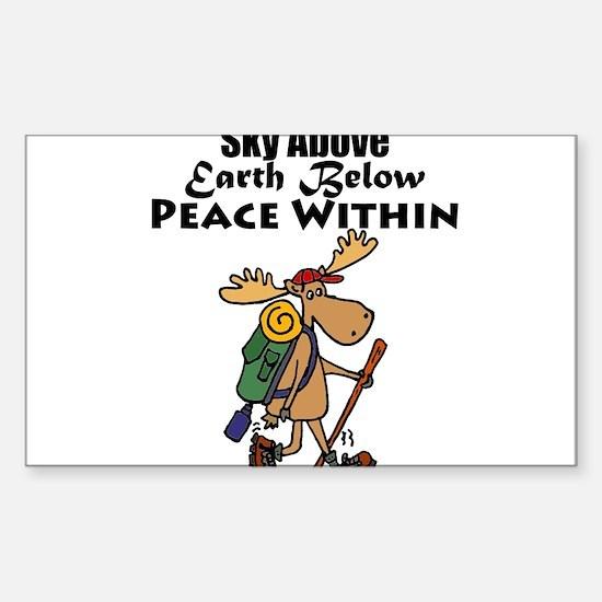 Funny Moose Hiker Cartoon Decal