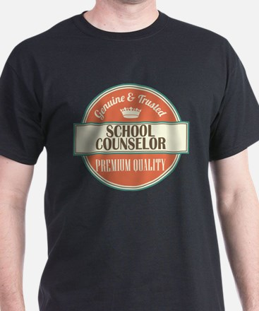 school counselor vintage logo T-Shirt