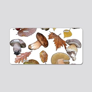 Boletus Aluminum License Plate