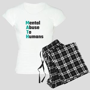 MATH Mental Abuse To Humans Women's Light Pajamas