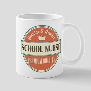 school nurse vintage logo Mug