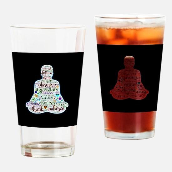 Cute Budda Drinking Glass