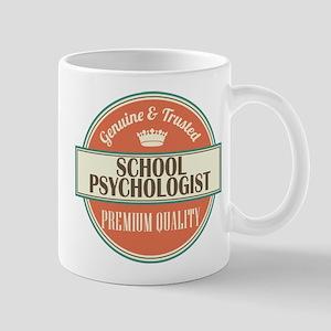 school psychologist vintage logo Mug