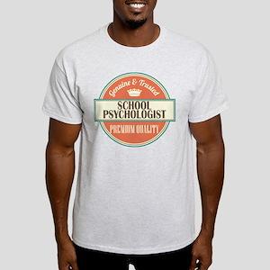 school psychologist vintage logo Light T-Shirt