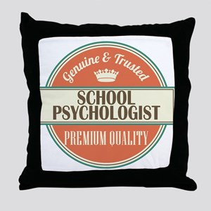 school psychologist vintage logo Throw Pillow