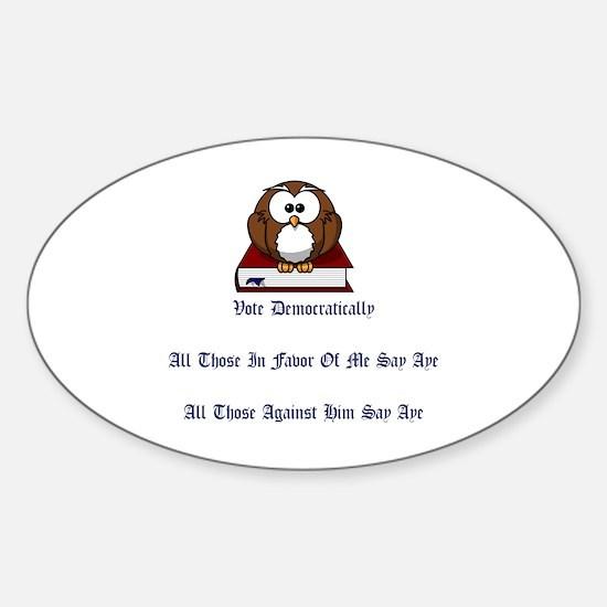 Cute Time vote Sticker (Oval)