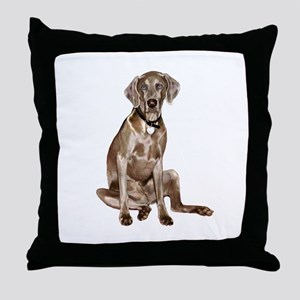 Weimaraner (gpol-gs) Throw Pillow