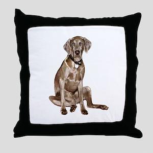 Weimaraner (gpol-gs) Throw Pillow