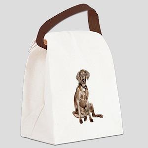 Weimaraner (gpol-gs) Canvas Lunch Bag
