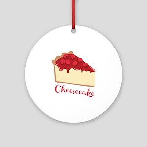 Cheesecake Round Ornament