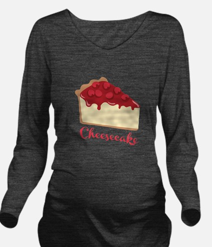Cheesecake Long Sleeve Maternity T-Shirt