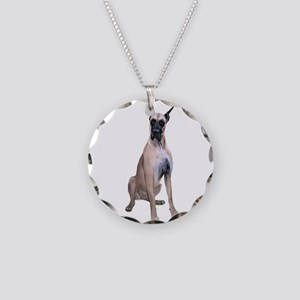Great Dane (Fawn-D) Necklace Circle Charm