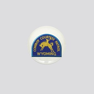 Cowboy Courtesy Patrol Wyoming Mini Button