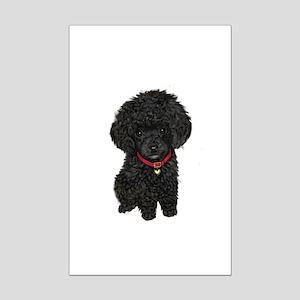 Black Poodle Puppy Mini Poster Print