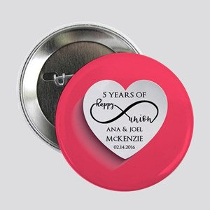 """Personalized Anniversary Pink Infinit 2.25"""" Button"""