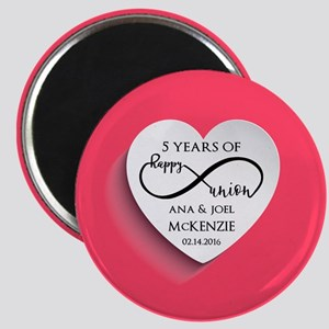 Personalized Anniversary Pink Infinity Magnet
