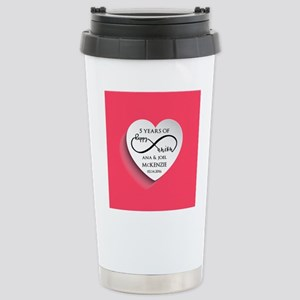 Personalized Anniversar Stainless Steel Travel Mug
