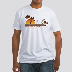 South Padre Island Texas Fitted T-Shirt