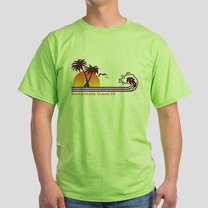 South Padre Island Texas Green T-Shirt