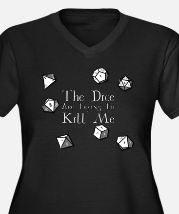 Dice-White Plus Size T-Shirt