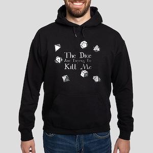 Dice-White Hoodie (dark)