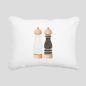 Salt & Pepper Grinders Rectangular Canvas Pillow