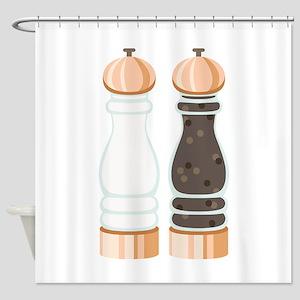 Salt & Pepper Grinders Shower Curtain