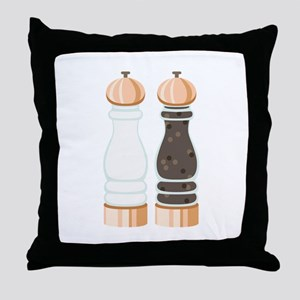 Salt & Pepper Grinders Throw Pillow