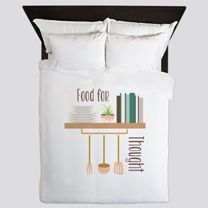 Food For Thought Queen Duvet