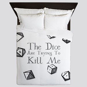 The Dice are Trying to Kill Me Queen Duvet