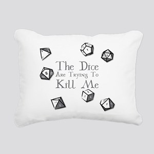 The Dice are Trying to K Rectangular Canvas Pillow