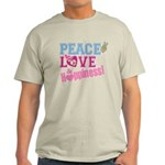 Peace Love and Happiness Light T-Shirt