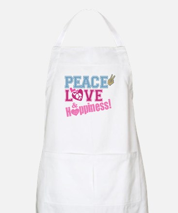 Peace Love and Happiness BBQ Apron