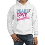 Peace Love and Happiness Hooded Sweatshirt