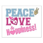 Peace Love and Happiness Small Poster