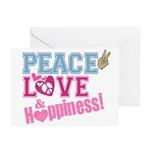Peace Love and Happiness Greeting Cards (Pk of 10)