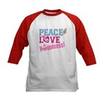 Peace Love and Happiness Kids Baseball Jersey