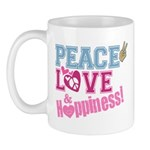 Peace Love and Happiness Mug