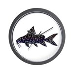 Angel Squeaker Upside-down Catfish Wall Clock