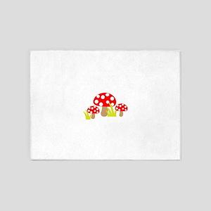 Magic Mushrooms 5'x7'Area Rug